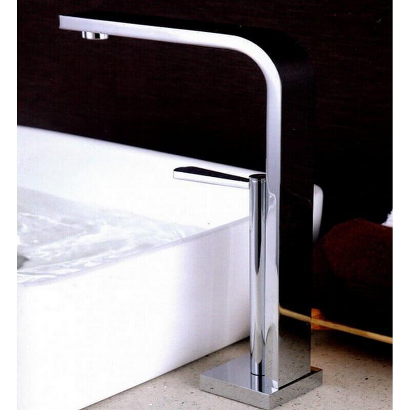 robinet mitigeur lavabo surélevé - chromé - sign| rue du bain - Robinet Haut Pour Vasque A Poser