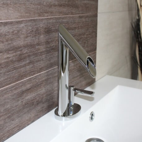 Robinet mitigeur design pour lavabo et vasque chrom zen for Robinet salle de bain design