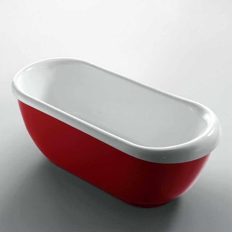 baignoire lot ovale rouge charmed baignoire lot rue du bain. Black Bedroom Furniture Sets. Home Design Ideas