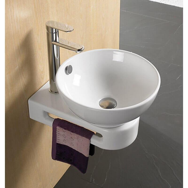 vasque avec trop plein int gr Support Vasque avec porte serviette intégré - 42x20 cm - Vogue ...