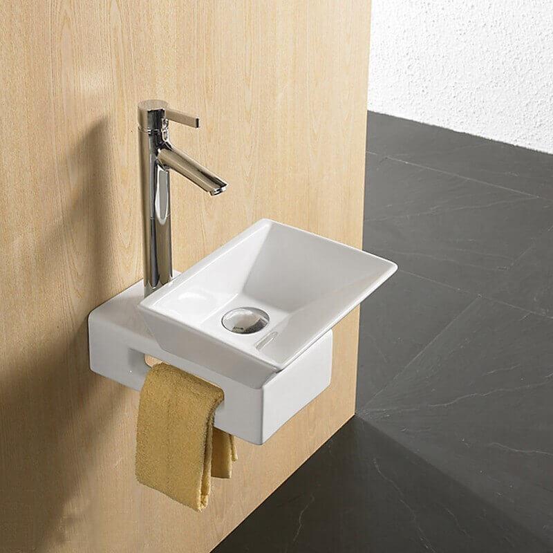 Support blanc pour vasque poser support et fixation for Support vasque salle de bain