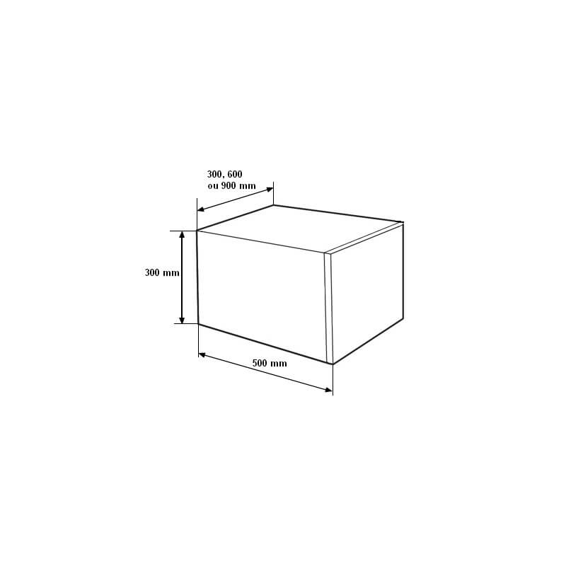 Meuble bas rangement 90x50x30 cm 1 tiroir laqu blanc for Meuble 90x50
