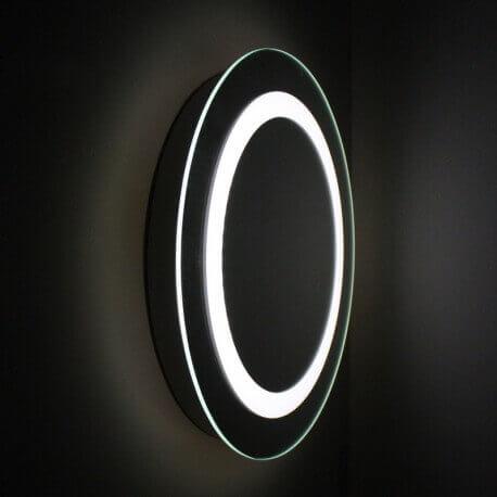 Miroir salle de bain rond 50 cm clairage led allumage for Miroir 50 cm de large