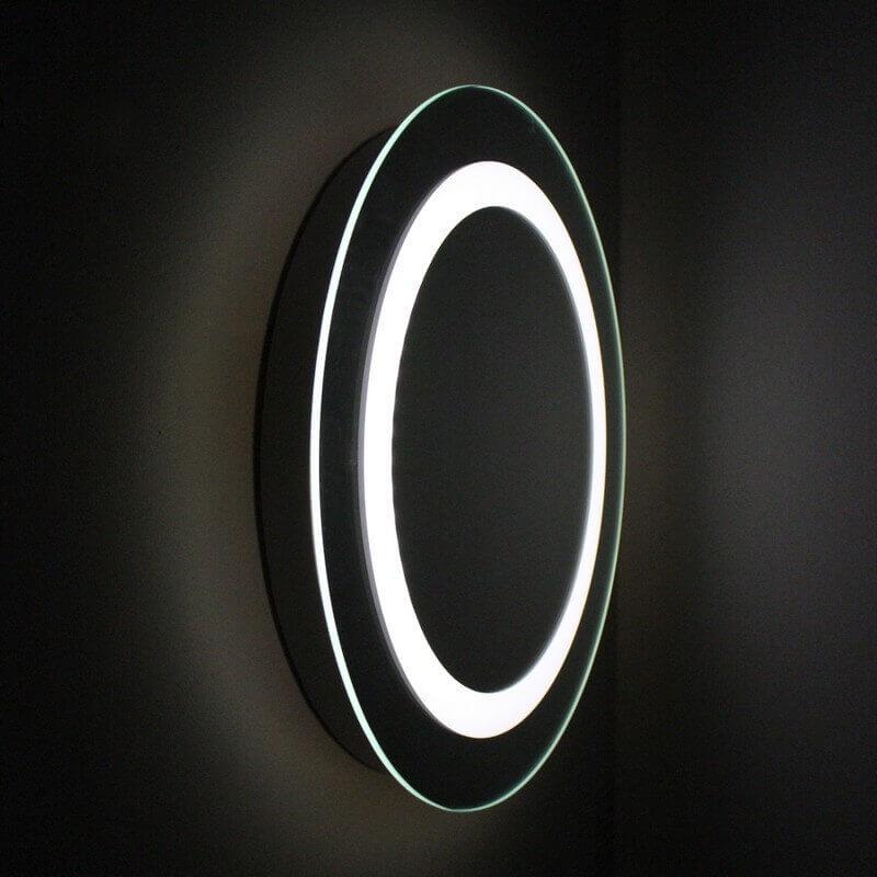 Miroir salle de bain rond 50 cm éclairage LED allumage sensitif Bull s