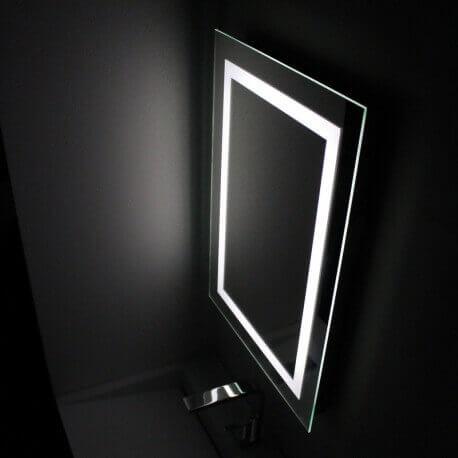 Miroir salle de bain 50x70 cm, éclairage LED, Antibuée, Connec't