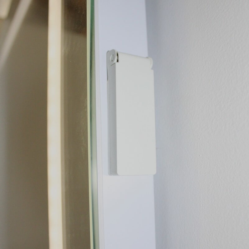 Miroir salle de bain led antibu e allumage sensitif lignum - Miroir salle de bain eclairant ...