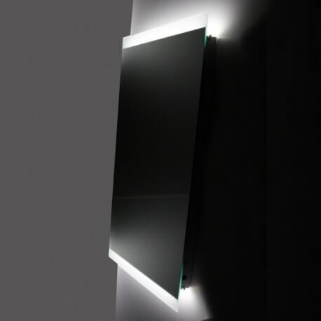 Miroir salle de bain 50x110 cm, éclairage LED, Antibuée, Lignum