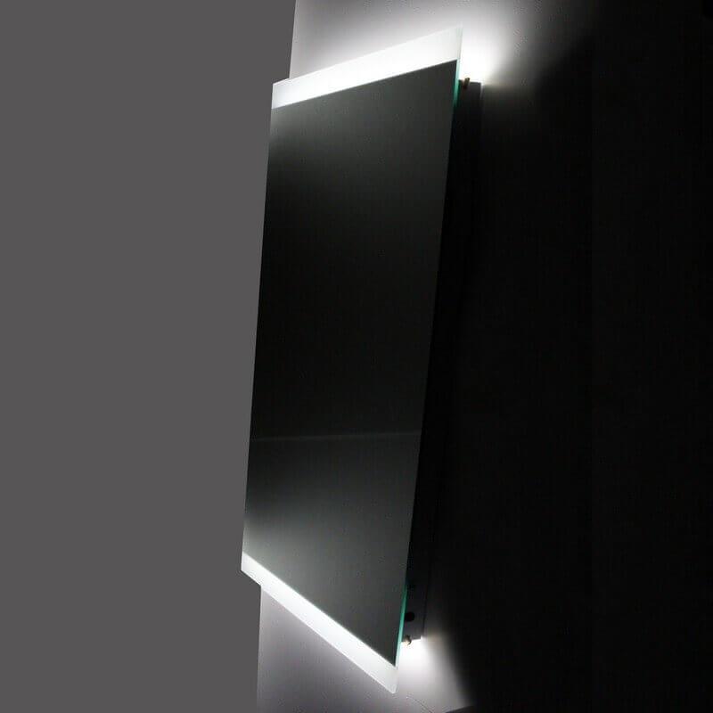 miroir salle de bain led antibuée allumage sensitif lignum|rue du bain