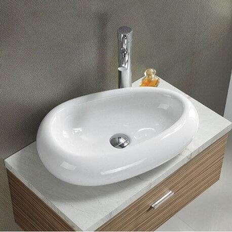 Vasque à poser ovale céramique Origin | Rue du Bain