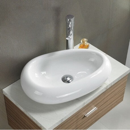 Vasque à Poser Ovale Galet - Céramique - 55x38 cm - Origin