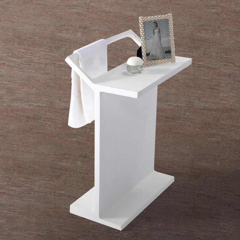 Porte serviette poser de salle de bain 69x50 cm - Pose serviette salle de bain ...