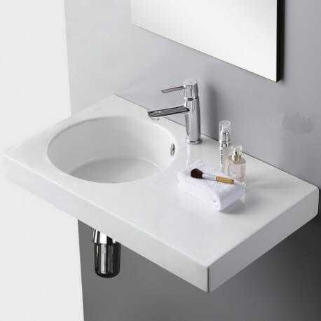 lavabo suspendu céramique Day | Rue du Bain