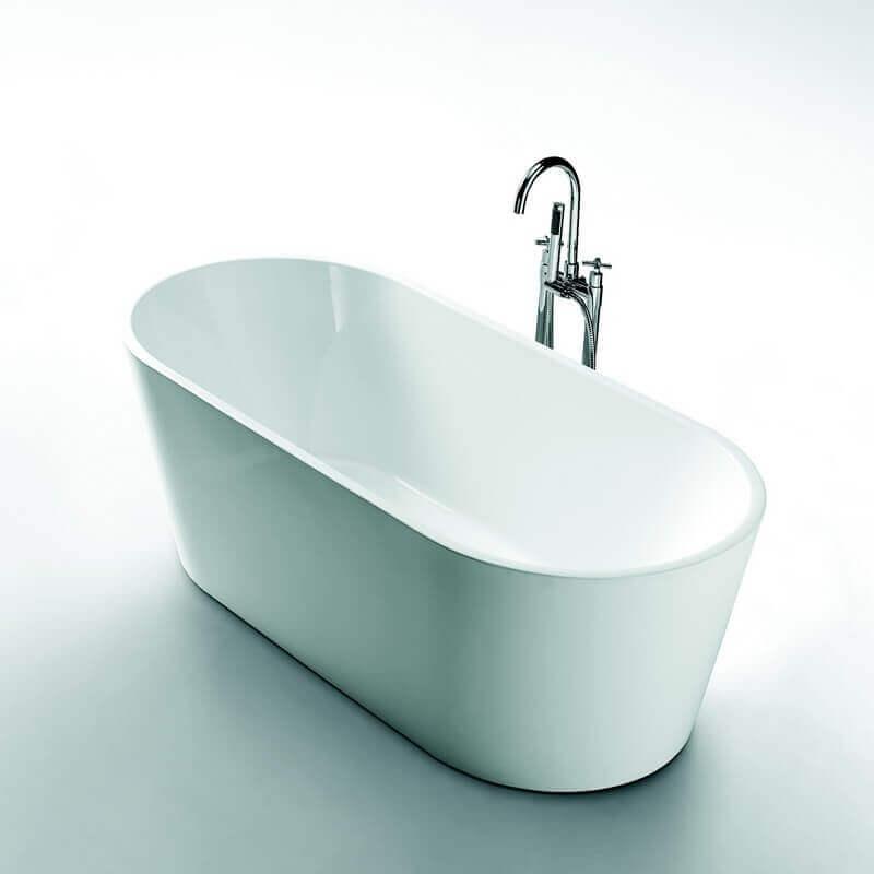 Baignoire lot ovale gain de place 150x80 cm acrylique - Baignoire petite dimension ...