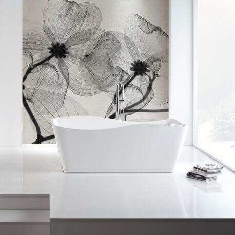 Baignoire îlot rectangulaire, 170x78 cm, Acrylique, Vogue