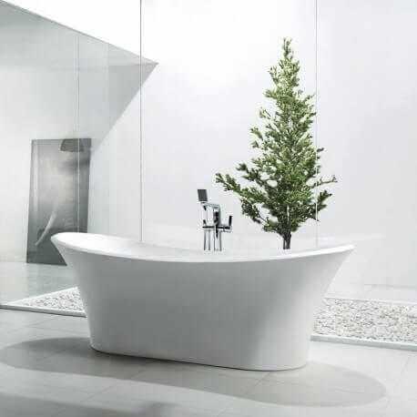 grande baignoire lot ovale 180x80 cm acrylique blanc coccon. Black Bedroom Furniture Sets. Home Design Ideas