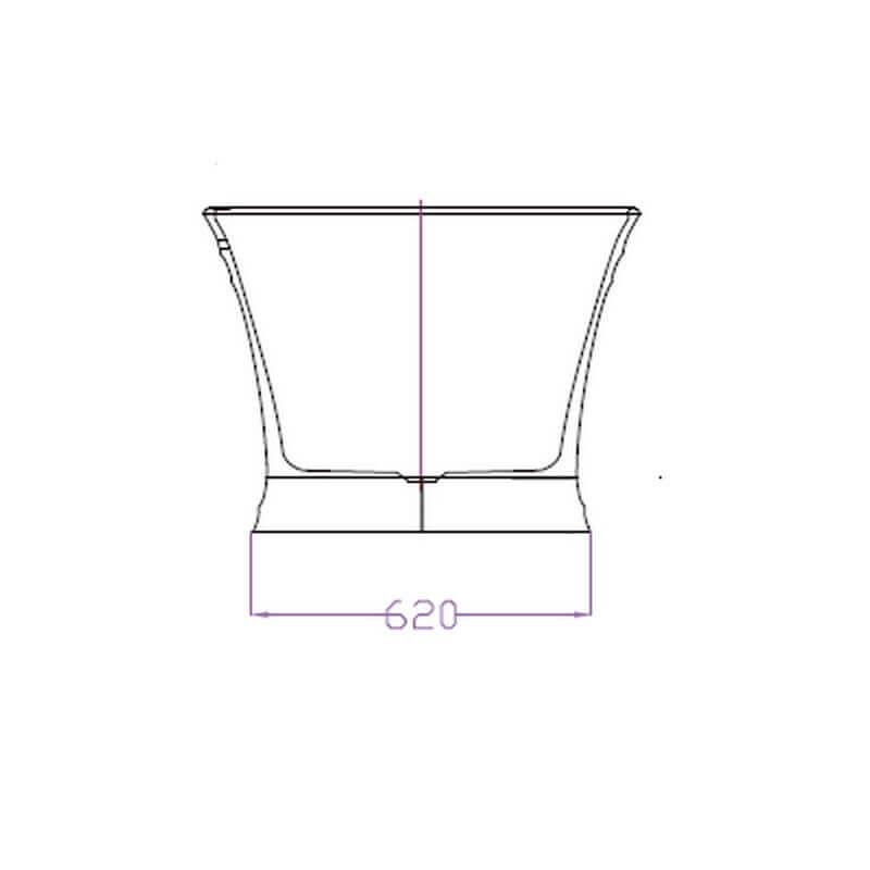 Baignoire lot ovale gain de place 150x79 cm acrylique blanc city - Evacuation baignoire ilot ...