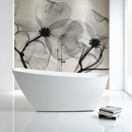 Baignoire Ilot Ovale, 170x80 cm, Acrylique blanc, Lounge