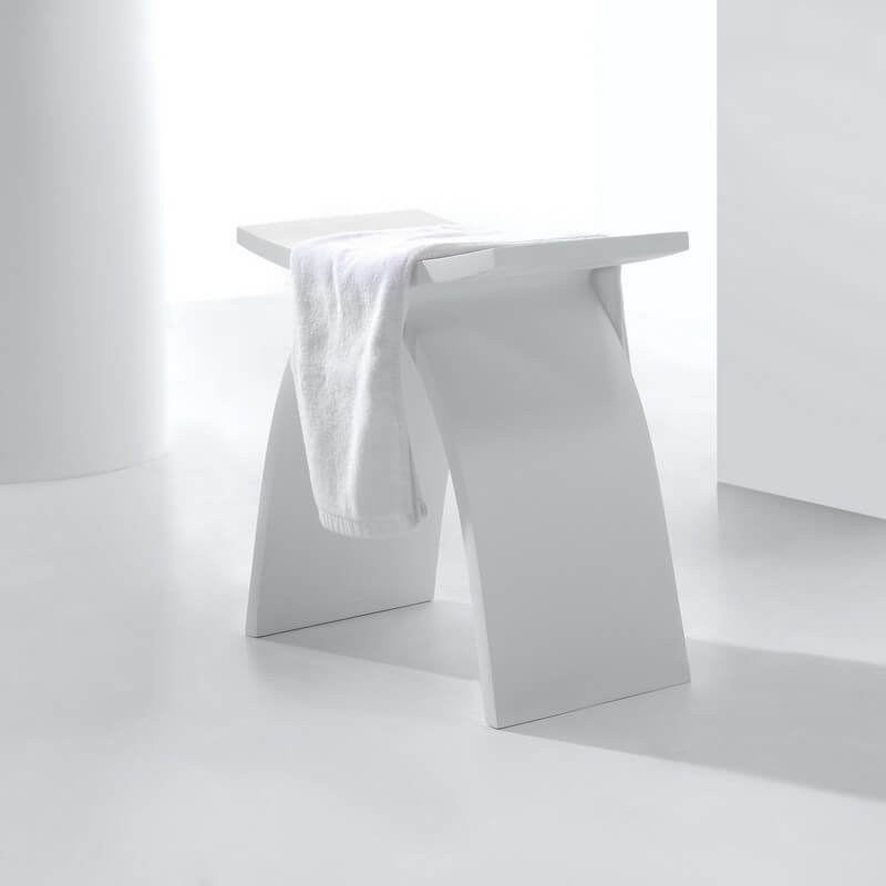 Affordable Tabouret Sige De Salle De Bain Xcm Composite Blanc Tabouret De Salle De Bains With Tabouret Salle De Bain Allibert