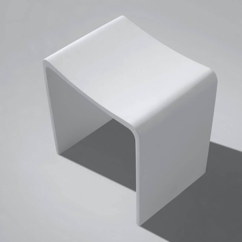 Parfait Tabouret De Salle De Bain Blanc Mat, 40x42 Cm,Composite, Essential ...