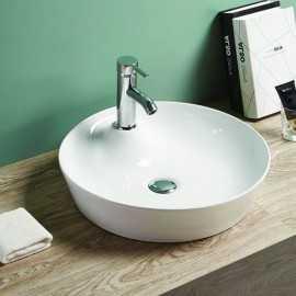 Vasque à Poser Ronde, 45x45 cm, Céramique, Lodge