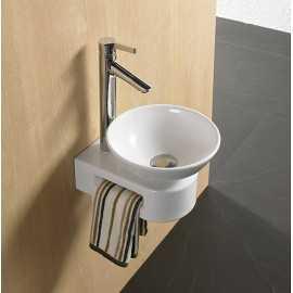 Petit Support Vasque avec porte serviette intégré | Rue du Bain