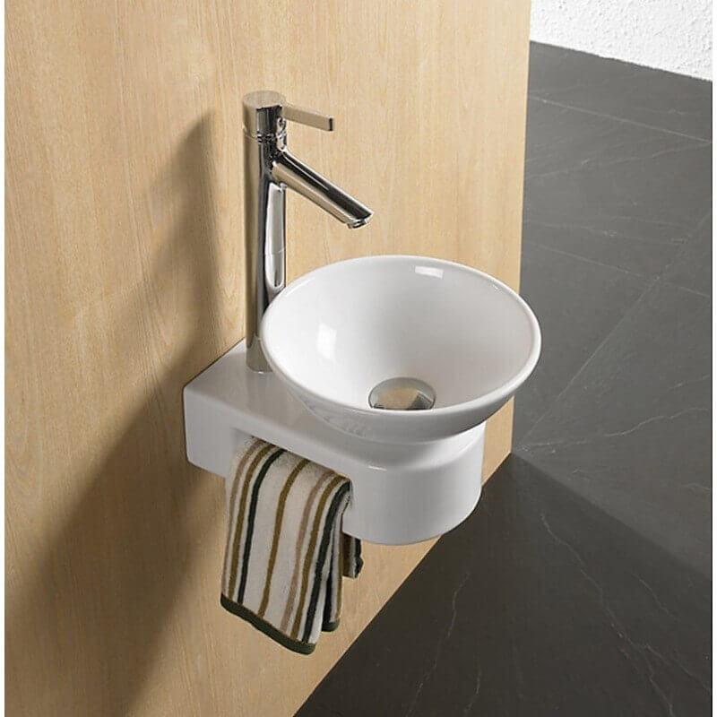 Support vasque poser avec porte serviette 36x23 cm vogue for Support vasque salle de bain