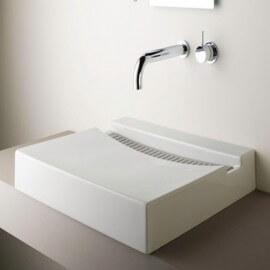 Vasque à Poser Rectangulaire, 60x46 cm, Composite, Line
