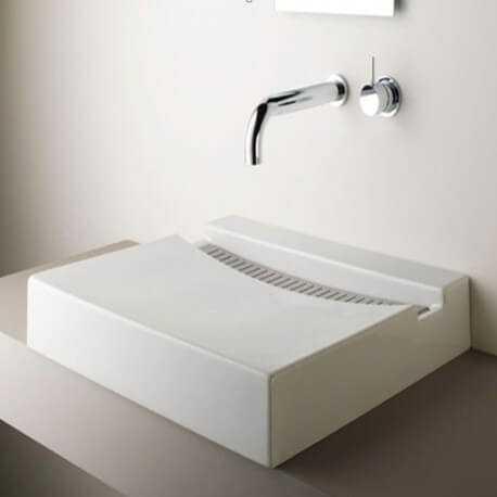 Vasque à poser rectangulaire composite Line | Rue du Bain