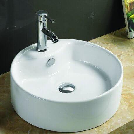 vasque ronde poser c ramique blanche star vente vasques a poser. Black Bedroom Furniture Sets. Home Design Ideas