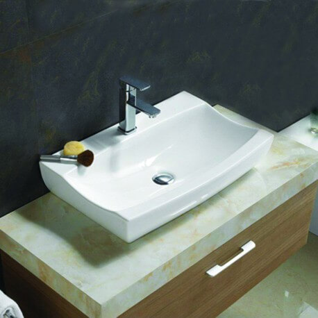 vasque poser rectangle cosmopolitan vasque en c ramique rue du bain. Black Bedroom Furniture Sets. Home Design Ideas