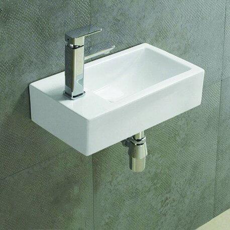 Lave main rectangulaire gauche céramique Studio| Rue du Bain