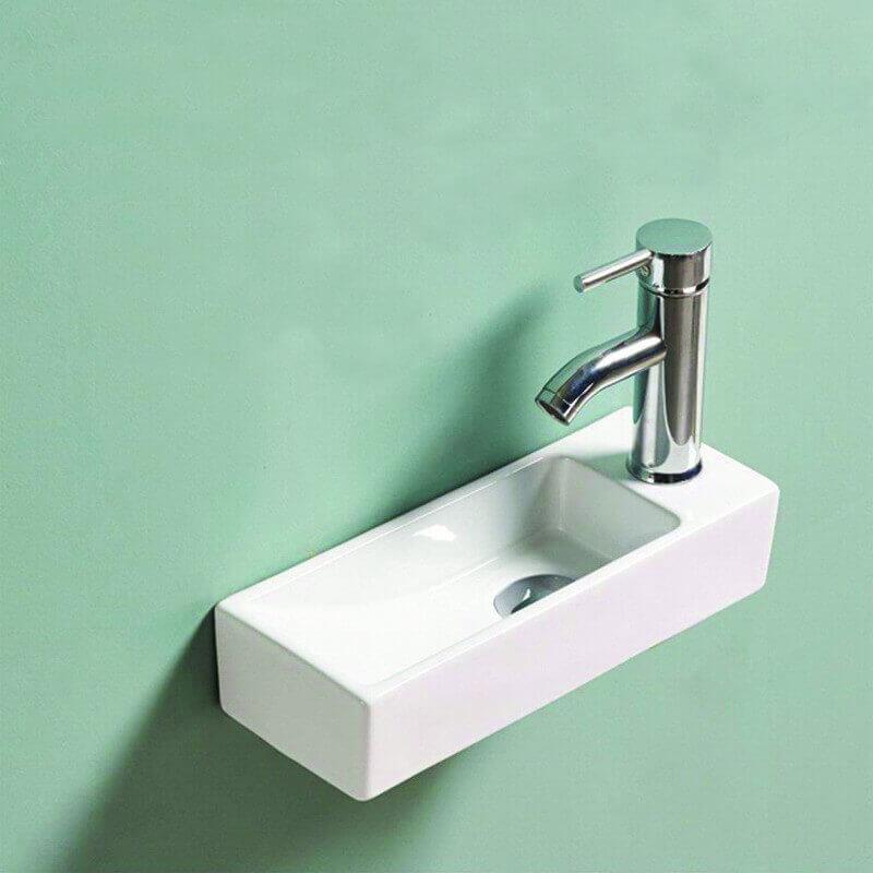 lave main gain de place 38x15 cm minimalist lave main rue du bain. Black Bedroom Furniture Sets. Home Design Ideas
