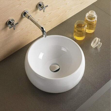 Vasque bol céramique à poser Vogue | Rue du Bain
