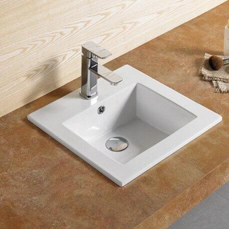 Vasque encastrable carrée Bent -Vasque encastrer céramique|Rue du Bain