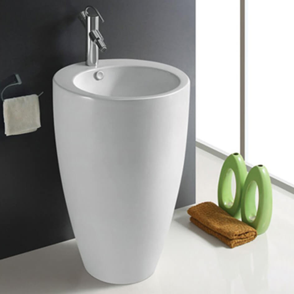 lavabo totem rond blanc ceramique blanc 50x85 cm ove Résultat Supérieur 19 Inspirant Lavabo Rond Salle De Bain Photographie 2018 Lok9