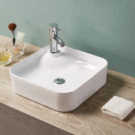 vasque poser carr e 43x43 cm c ramique urban. Black Bedroom Furniture Sets. Home Design Ideas