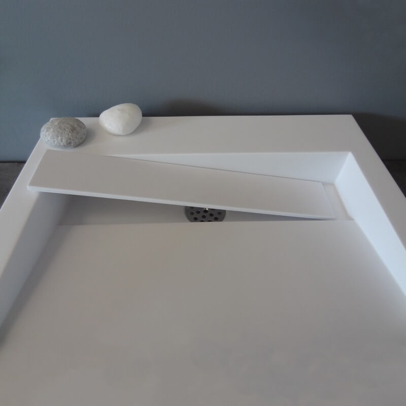vasque carr 233 e 224 poser 51x51x9 cm r 233 sine type corian blanc mat