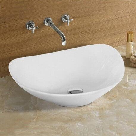 Vasque à poser ovale céramique Motion| Rue du Bain