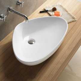 Vasque  à poser asymétrique céramique Young | Rue du Bain
