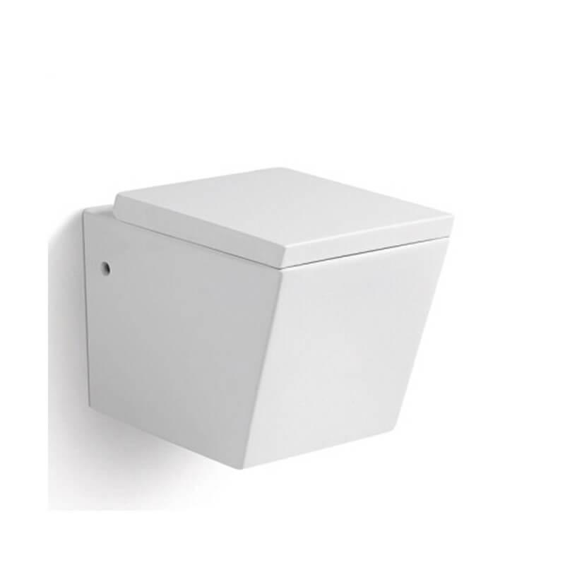 wc suspendu rectangulaire c ramique blanc connect rue du bain. Black Bedroom Furniture Sets. Home Design Ideas