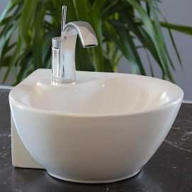 Lave Main Angle Rond - Céramique - 34x43 cm - Curve