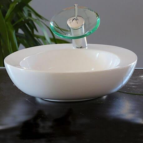 Vasque à poser ovale céramique Art | Rue du Bain