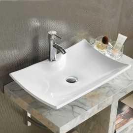 Vasque à Poser Rectangulaire Céramique Scala | Rue du Bain