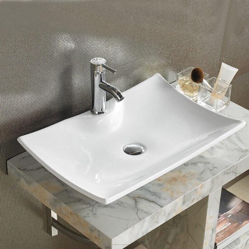 vasque rectangle blanche scala vasque poser c ramique. Black Bedroom Furniture Sets. Home Design Ideas