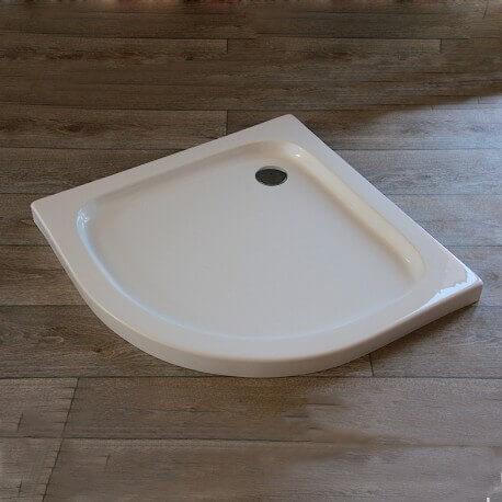 Receveur de Douche quart de rond, 90x90 cm, Acrylique, Circle