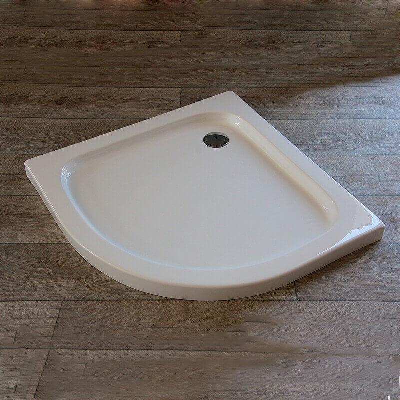 Receveur de douche quart de rond 90x90 cm acrylique blanc for Meuble quart de rond