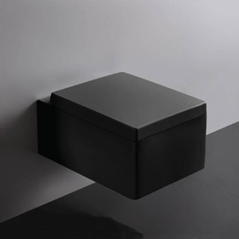 Abattant Noir Pour Wc Suspendu Kube - Accessoires Wc | Rue Du Bain