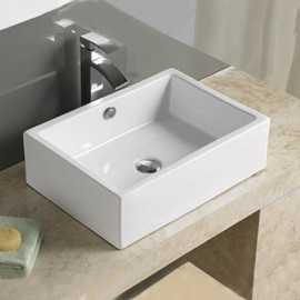 Vasque à poser rectangulaire céramique Line | Rue du Bain