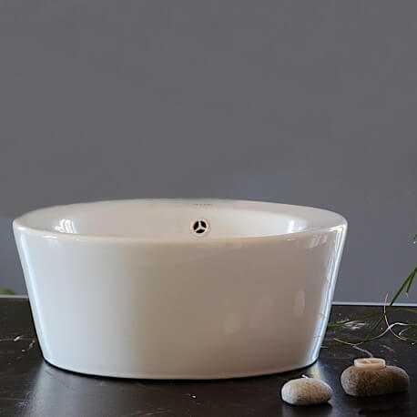 Vasque à poser ronde céramique Sigma | Rue du Bain
