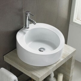Vasque à Poser Ronde, 49x48 cm, Céramique, Loft